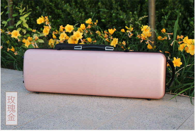 New 4/4 Violin Case Carbon Fiber Strap Hard Case Gold Yinfente Support 150kg violin carbon fiber bow master level gold mounted fpz021