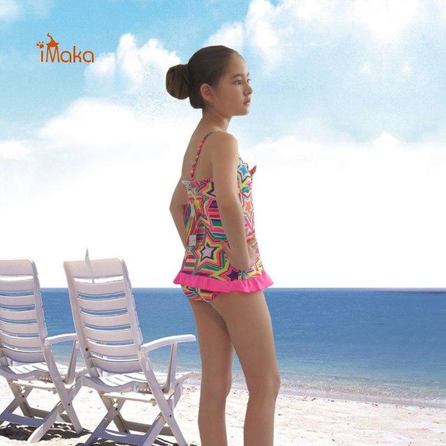 52bf4a089d52 € 10.74  Imaka Niñas traje de Baño Bikini Conjunto traje de Baño Kids  Volantes Juego de Natación Para Niños Bebés Niños Traje de Baño Maillot De  Bain ...
