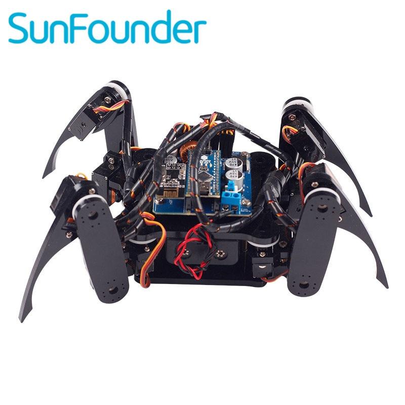 SunFounder Wireless Telecontrol Crawling Quadruped Robot Kit for Arduino Nano Electronic Diy Kit
