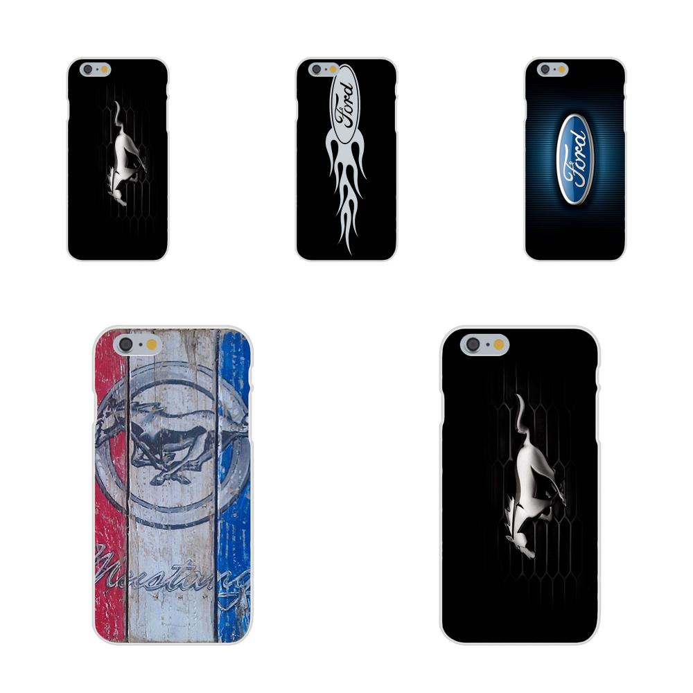 Soft Silicone TPU Transparent Mobile Ford Mustang Boss <font><b>Funny</b></font> Logo For Apple <font><b>iPhone</b></font> 4 <font><b>4S</b></font> 5 5C 5S SE 6 6S 7 8 Plus X XS Max XR image