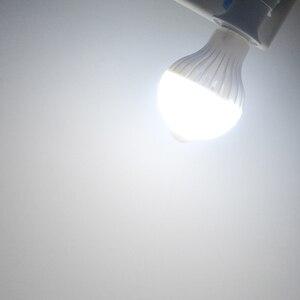 Image 5 - Лампа с датчиком движения 85 265 в движение тела Авто включение/выключение движения/звуковой датчик светильник 3 Вт 5 Вт 7 Вт 9 Вт лестница безопасности Nachtlampje