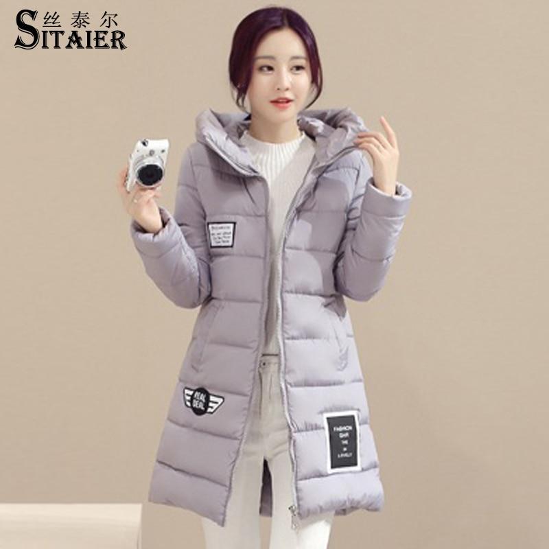 High quality Women Winter Coat Womens Clothing Medium Long Cotton Padded Warm Jacket Coat Down Parkas