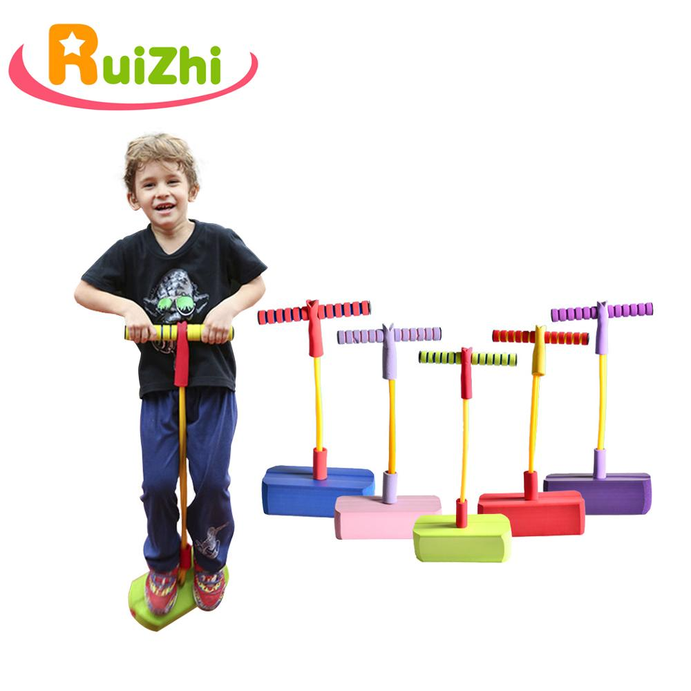 Ruizhi Foam Frog Jumper Toy Bounce Sense Training Pogo Stick Jumping Stilts Shoes Kids Outdoor Sports Game Children Toys RZ1007