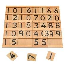 Семейный Монтессори вспомогательный материал для обучения в Seguin деревянные игрушки для детей подростков и десятков доски Дошкольное обучение