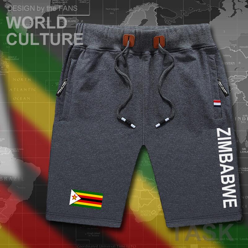 Zimbabwe Mens Shorts Beach Man Men's Board Shorts Flag Workout Zipper Pocket Sweat Bodybuilding 2017  ZWE YeZimbabwe Zimbabwea