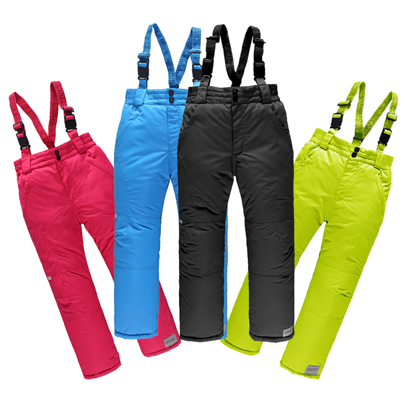 Toddler Boy Pants Children Snow Skiing Pants Outdoor Warm Snowboarding Trousers Waterproof Breathable Winter Ski Pant Girl Boy womens white ski pants female black snowboarding riding snow pants outdoor colorful sports trousers waterproof breathable warm