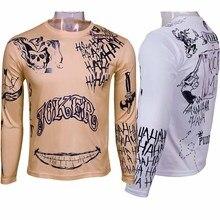 Suicide Squad Джокер тату косплей футболки летние мужчины футболки