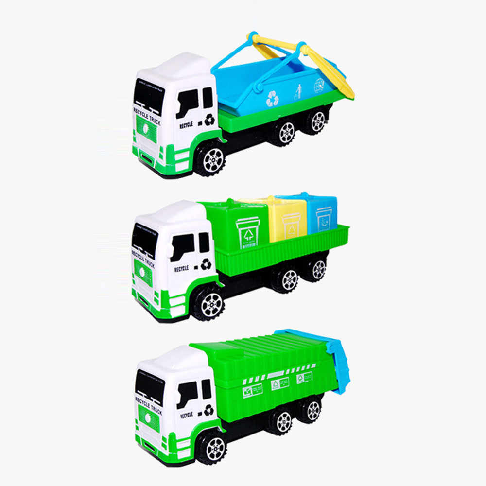 Car Toys For Boys Plastic Interactive Car Toys For Children Diecast Model Sanitation Garbage Cars Toy kids Birthday Gift k423