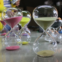 7 color Glass Hourglass Sand Timer Fashion Home Decor Birthday 3 Minute Love Valentine's Day Gift Ampulheta Reloj De Arena hot selling vintage hourglass ampulheta crafts sand clock hourglass timer home decoration accessories for birthday gift lfb110