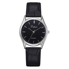 Влюбленных Кварцевые наручные часы Простой Стиль Дизайн с ПУ кожаный ремешок Повседневное часы для Для женщин Для мужчин пара TT @ 88