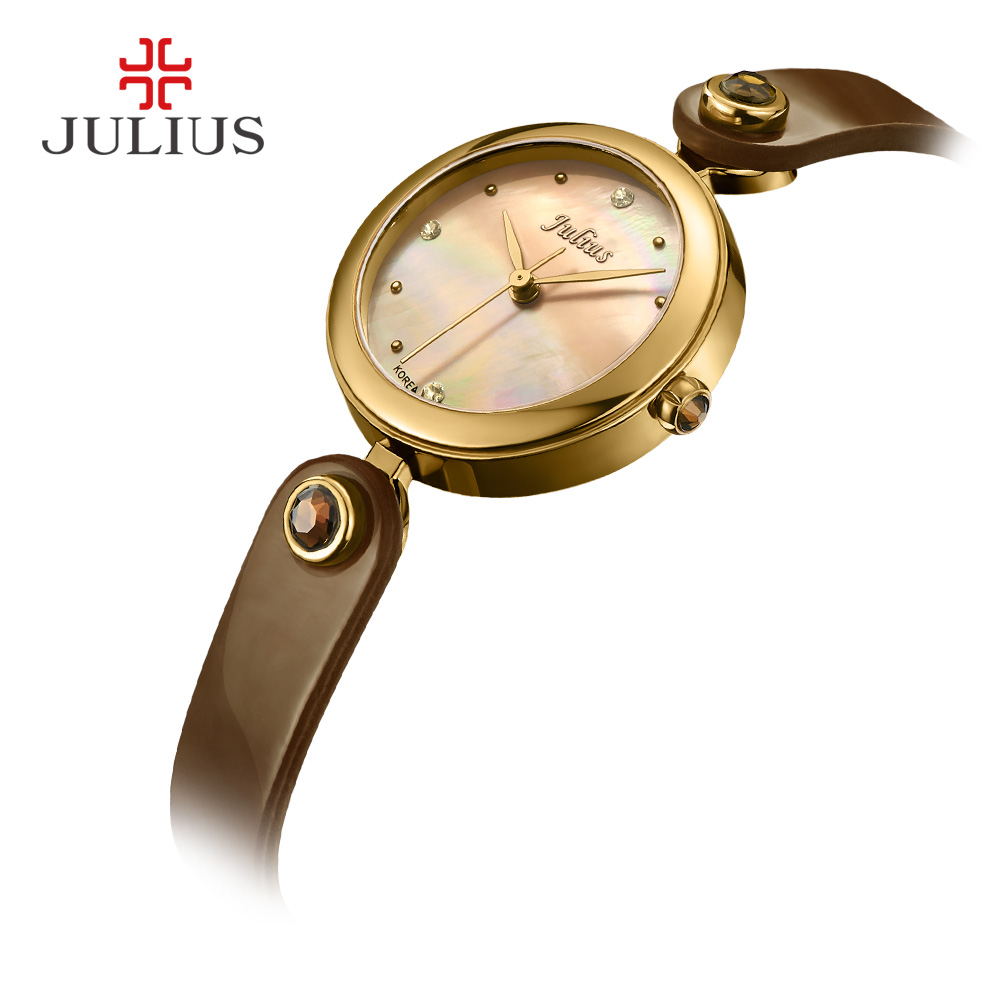 цены Mother-of-pearl Women's Watch Japan Quartz Hours Simple Fine Fashion Dress Bracelet Leather Girl Christmas Gift Julius Box