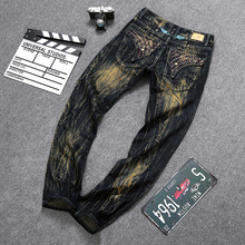 Original Quality Mens Designer Jeans Men Robin Jeans Famous Brand Robin Jeans Denim With Wings American Flag Jeans Size 29-42