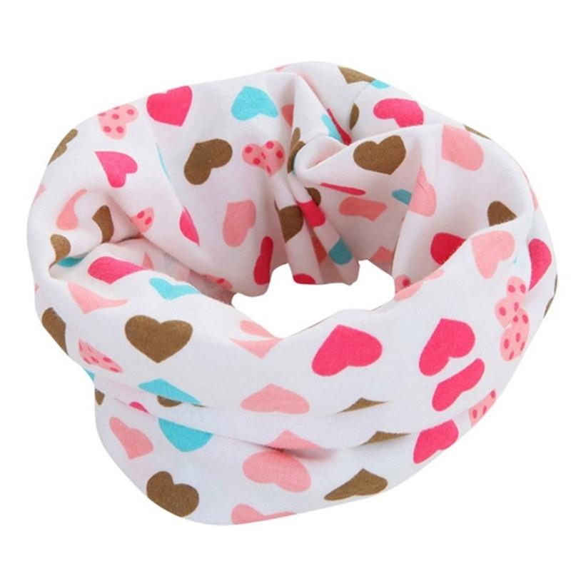 Cotton Baby Scarf Winter Children Cartoon Scarves Baby Warm Neck Collars Girls O Ring Scarf Spring Autumn Kids Boys Neckerchief