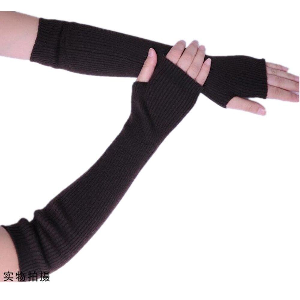 ERaBLe Womens 40cm Length Sleeve Fingerless Gloves With Thumb Hole