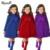 2016 Nova Moda Meninas Casacos Crianças Bowknot Rendas Meninas Casaco De Lã lapela Casaco Longo Inverno Cor Sólida Menina Caber 2-7 Anos de Idade