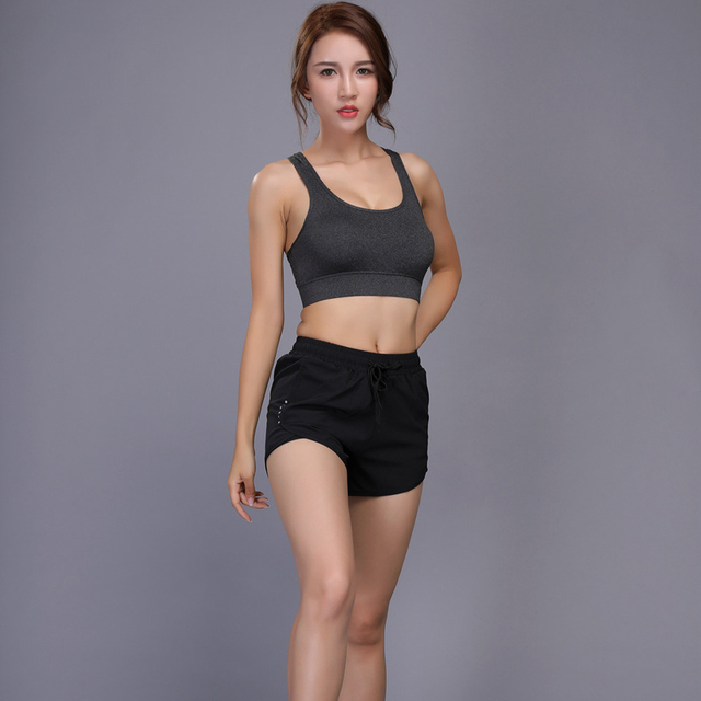 5c0787b213 2018 Women Fitness Running Sport Bra+Shorts Breathable Quick Dry Gym Tennis  Clothes Training Jogging Yoga Set Sport Suit 2 Piece