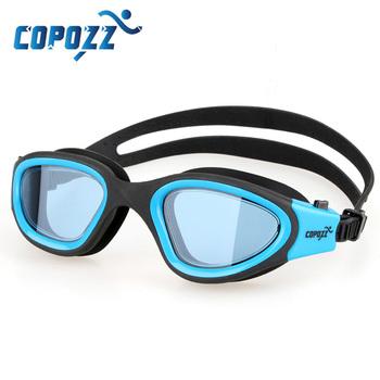 Copozz wyczyść lustrzane gogle pływackie męskie kobiece gogle pływackie przeciwmgielne okulary pływackie okulary pływackie maska dla dorosłych tanie i dobre opinie CN (pochodzenie) 48mm MULTI 60mm Pływać Z poliwęglanu Octan 3720