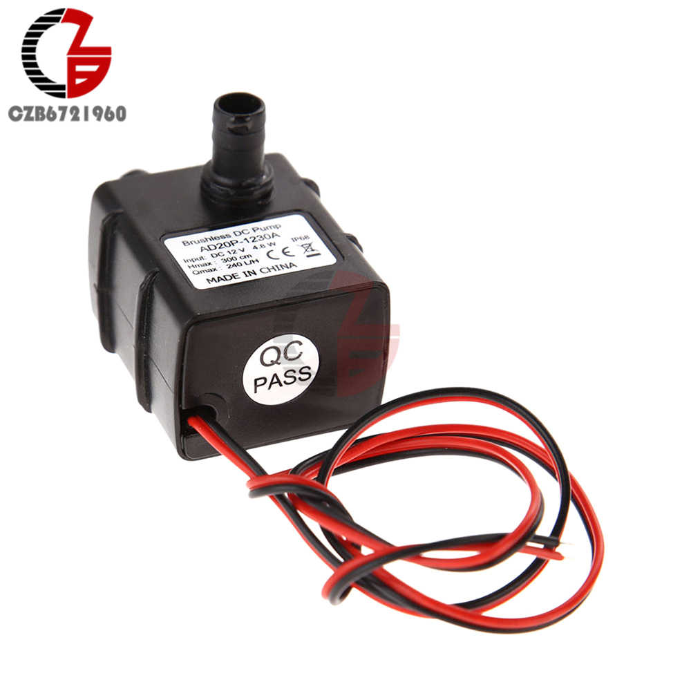 Micro Brushless DC มอเตอร์ปั๊ม Aquarium Fish TANK PUMP DC 12V 3 M 240L/H MO