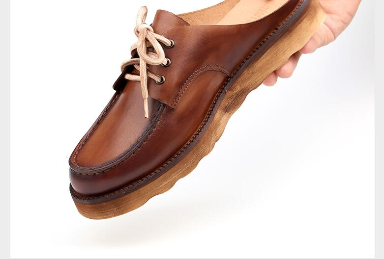 Sur Sandales Dentelle Mocassin Cuir Hommes forme Appartements Croissante As Chaussures Casual Up Éraflures Plate D'été Véritable Slipper Pic Hauteur Mocassins Slip En yOwN8v0mn