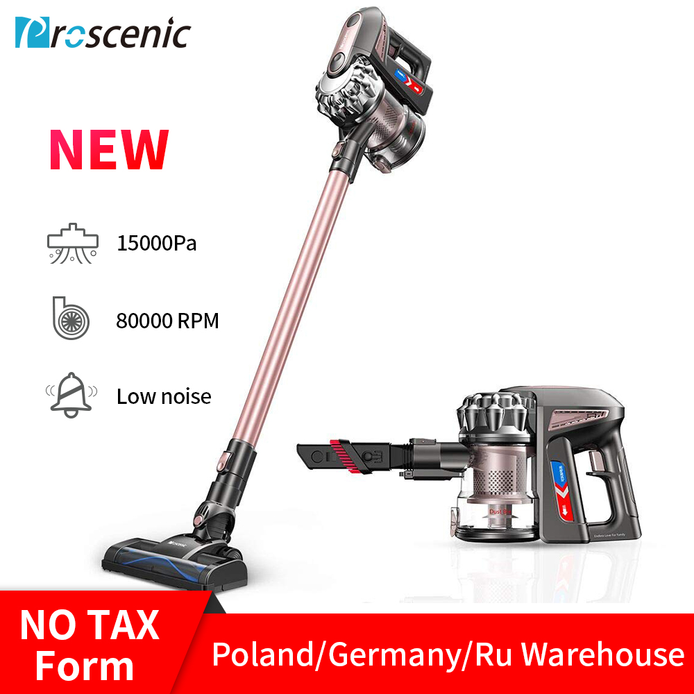 Proscenic P8 PLUS Vacuum Cleaner Handheld Wireless cyclone Cordless Stick Cleaner for Home Car 15000Pa Low