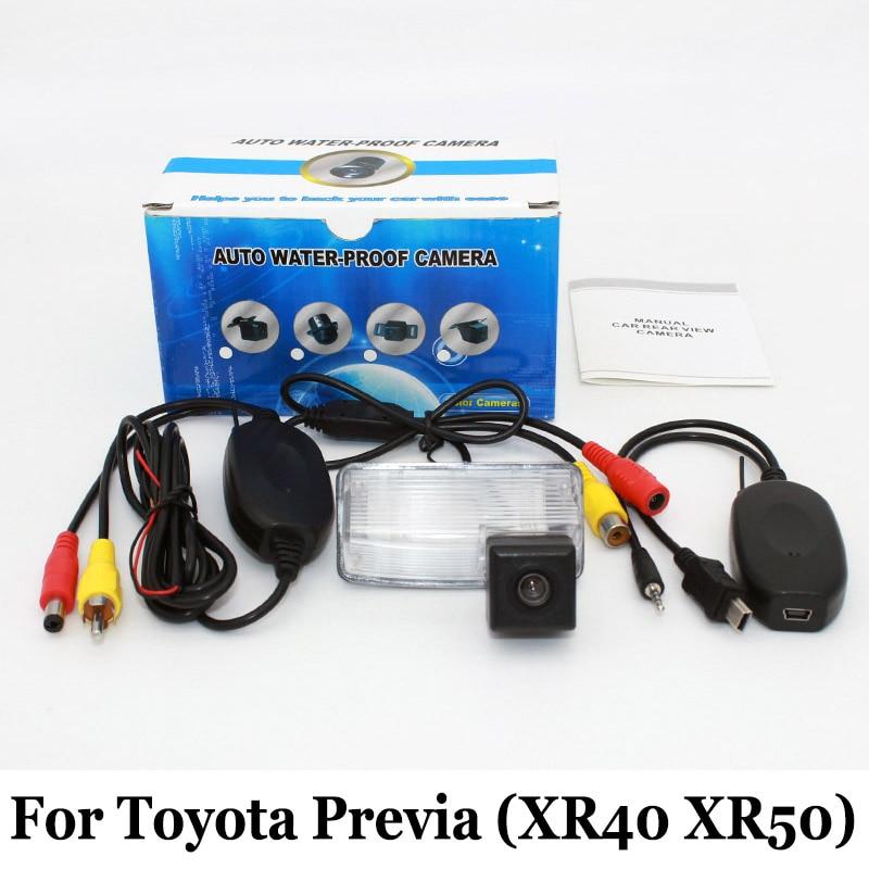 Авто заднего вида Камера для Toyota Previa MK2 MK3 2000 ~ 2017 RCA AUX  Провода или Беспроводной  HD CCD Ночное видение парковка Камера 18c0d1dad38