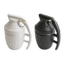 3D Stereo Glas Tassen mit deckel Personalisierte Granaten Tassen Ceramic Coffee Tassen Weiß und Schwarz
