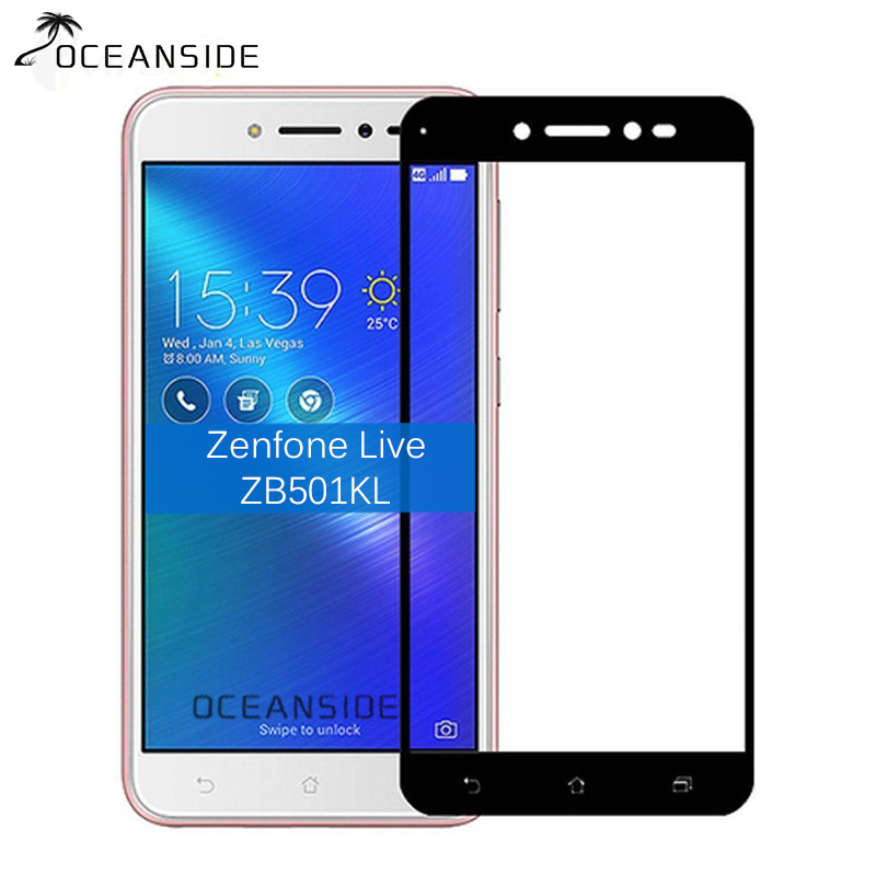 For Asus Zenfone Live ZB501KL Full Cover Tempered Glass Screen Protector 2.5 9h Safety Protective Film on ZB501 KL Zb 501KLFor Asus Zenfone Live ZB501KL Full Cover Tempered Glass Screen Protector 2.5 9h Safety Protective Film on ZB501 KL Zb 501KL
