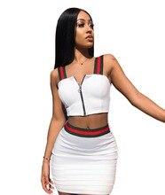 Plus Size 2 Piece Set Dress 3XL Summer Women Striped Print Zipper Crop Top and Mini Bodycon Dresses Double Wear Ways Vestidos