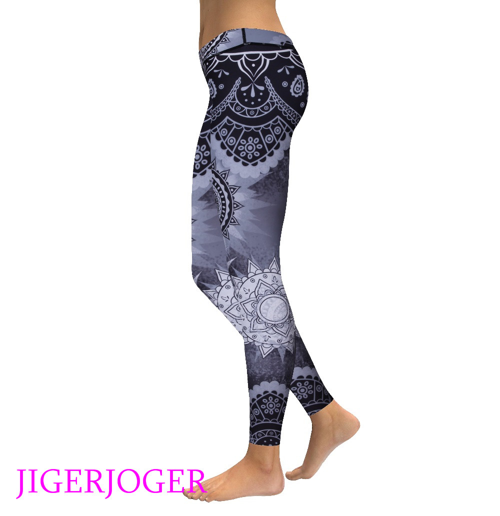 High waist grey mandala legging 4_