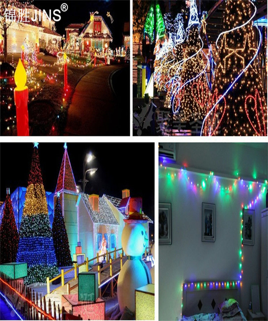 LED Lamp String With Indoor And Outdoor Decorative Lamp Eu Plug 5M 60Pcs/M  Holiday Ideas
