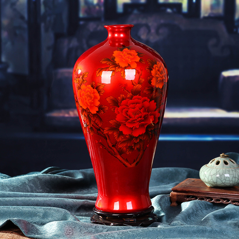 Jingdezhen vase TV ark furnishing articles ceramic vase household sitting room adornment porcelain vases porch place bag mail image