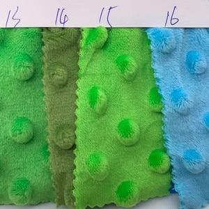 45/70/80/100 см 30 Цвета супер мягкий Minky ткань с точками ручная швейная игрушки-одеяла Материал флис печать eco-friendly плюшевая ткань