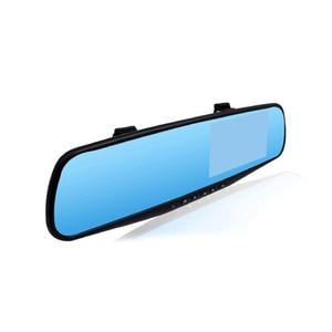 Image 2 - AOSHIKE Volle HD 1080 P Auto DVR Kamera Auto 4,3 Inch Rückspiegel Digital Video Recorder Dual Objektiv Registratory camcorder