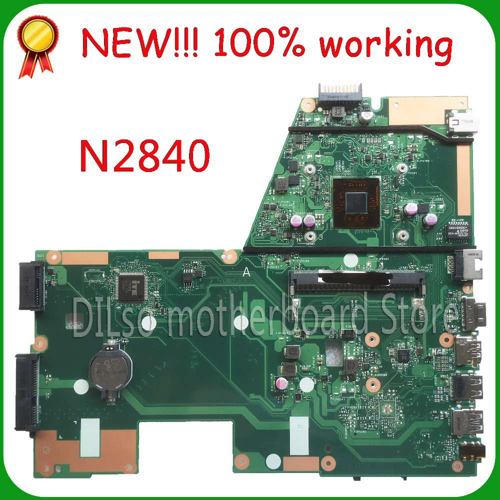 KEFU X551MA  For ASUS X551MA Laptop Motherboard N2840U  X551MA motherboard 90NB0480-R00100 REV2.0 100% tested битоков арт блок z 551