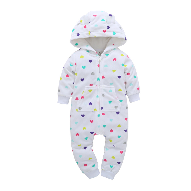 2019 Fall Winter Warm Infant Baby Rompers Coral Fleece Animal Overall Baby Boy Gril Halloween Xmas Costume Clothes Baby jumpsuit