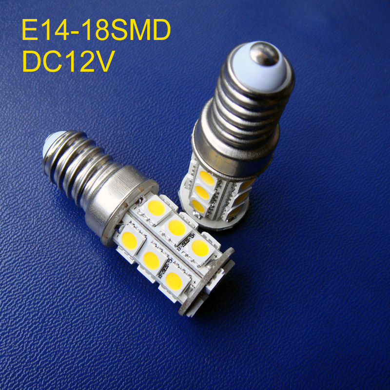 High quality 12V E14 led lighting E14 bulbs led 5050 SMD E14 lamps DC12V free shipping 2pcs/lot 2pcs high quality superb error free 5050 smd 360 degrees led backup reverse light bulbs t20 for hyundai i30