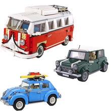 Lepinblocks 21001 21002 21003 21005 Volkswagen T1 Camper Technic Building Blocks Bricks Toys Compatible 10220 10252