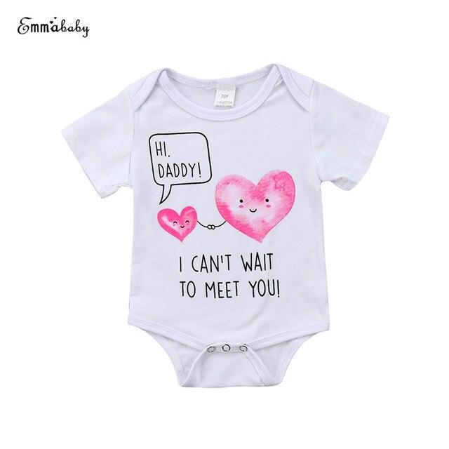 f640577a0 0 18M Cute Newborn Baby Boy Girl Short Sleeve Heart Print Cotton ...