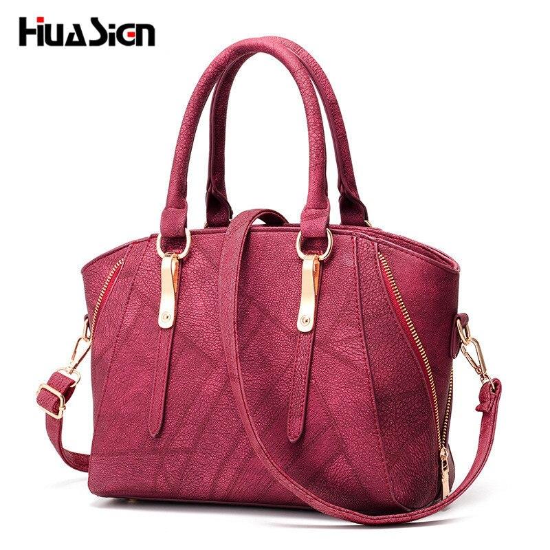 Huasign Luxury Women Leather Handbag 2017 New Sweet fashion Bag Designer Handbags Famous Brand Tote Shoulder Ladies Hand Bag