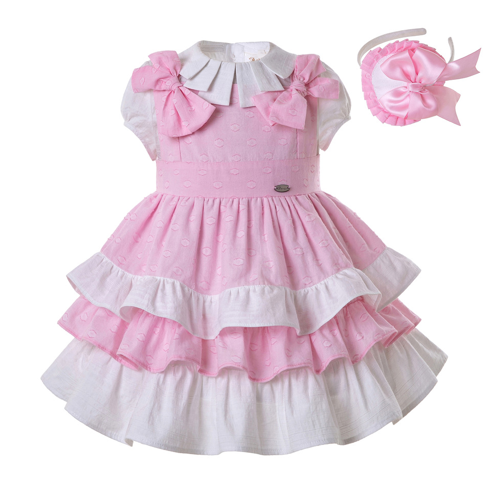 Pettigirl Wholesale Girl Clothing Set with White Girls Blouse and Sumemr Dress Children Clothes Headband G