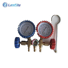 Refrigeration detection table dual valve refrigerant Refrigerating Table copper Manifold Gauge Set A/C Air Conditioning 1/4SAE