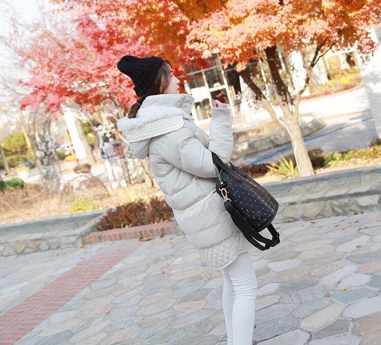 Agneau Vestes Parkas Hiver black Mince Manteaux Y418 Capuche Rembourré 2018 Laine Femmes Veste Nouveau White Chaud Longue De Épais 3xl 5XwvZWq