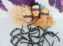 AILAIKI 100Pcs lot Lowest Price Black Fashionable Lensless Glasses For 1 6 Girl Doll Boy Friend