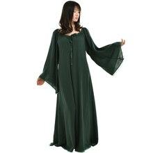 Винтаж женщин средневековой сорочка робы готический кружева платье одежды трепал длинное платье