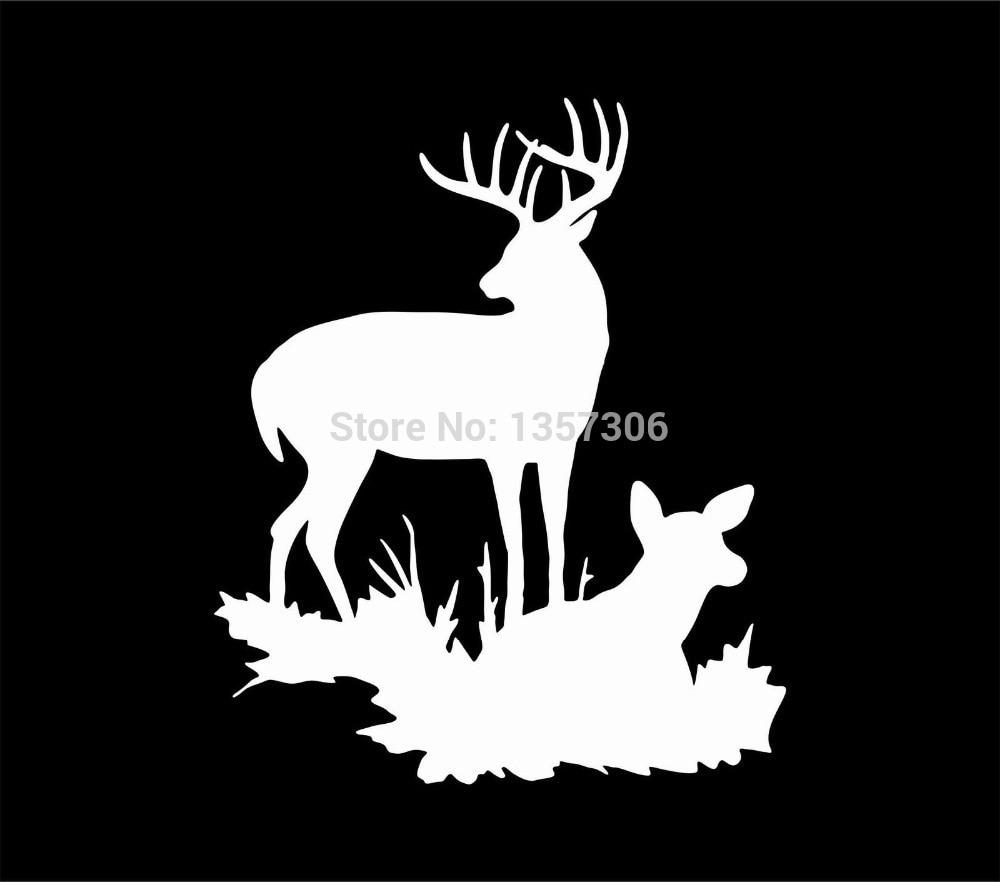 Car sticker design family - New Deer Family Sticker Car Window Truck Bumper Auto Suv Door Laptop Kayak Vinyl Decal 9