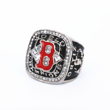 USA size 10/11/12 baseball 2004 Boston Red Sox championship ring replica ORTIZ solid ring display box drop shipping
