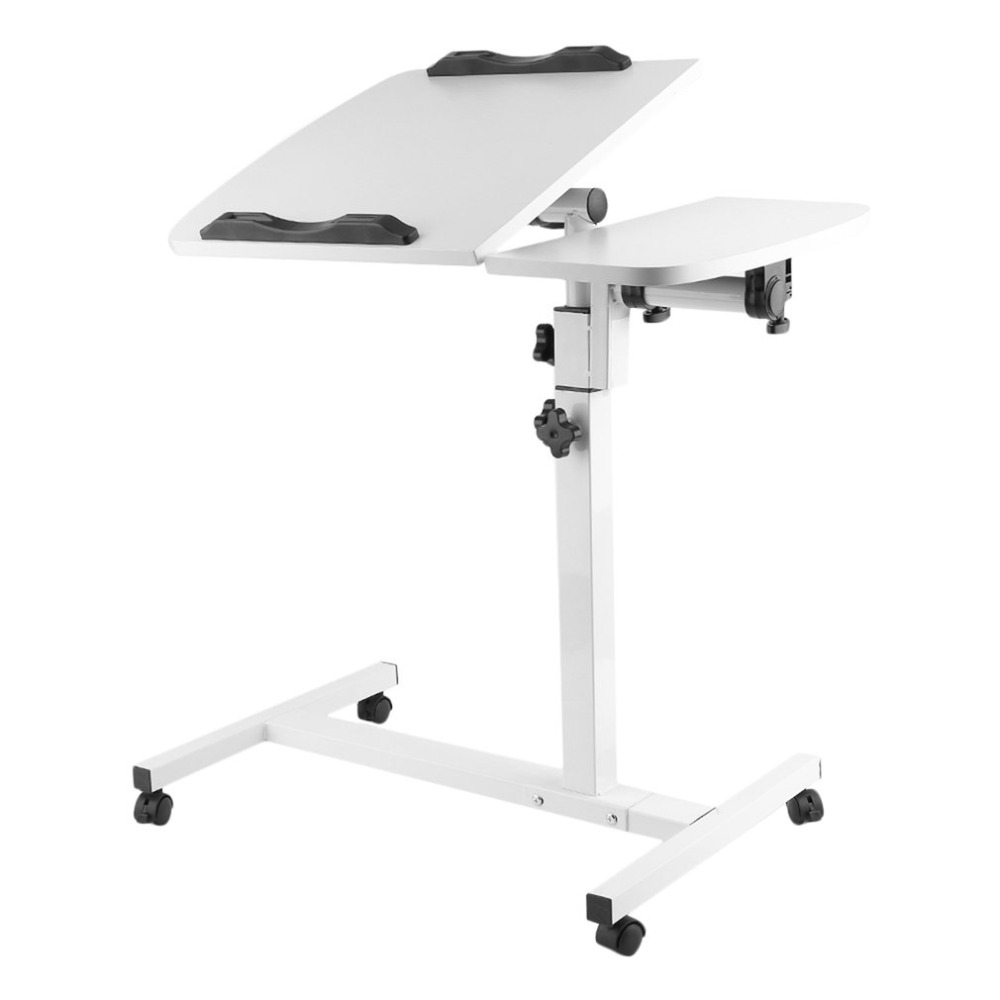 все цены на Portable Lazy Folding Laptop Table Adjustable Height Notebook Computer Desk Learn Office Stand Table Home Movable Bedside Desk онлайн
