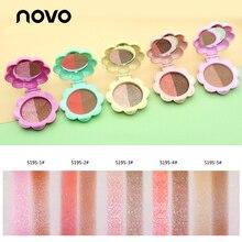 NOVO Brand Double-color Shimmer Brighten Powder Eyeshadow Makeup Waterproof Pigm