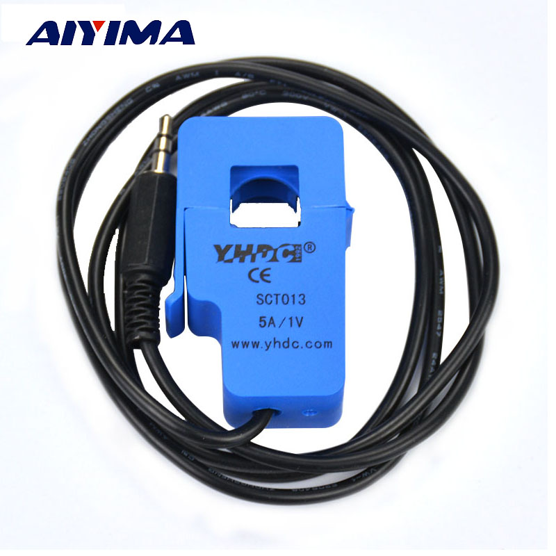 AIYIMA 1pcs 5A SCT-013-005 Non-invasive AC Current Sensor Split Core Current Transformer 400 5a split current transformer for amp meter
