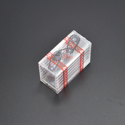 2 pçs transparente caixa de tesouro truques mágicos perto de rua ilusão adereços acessórios magie caixa comédia